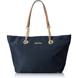 Calvin Klein Florence Dressy Tote Bag Navy Blue